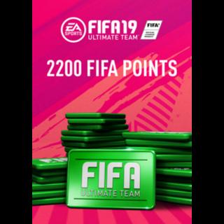 FIFA 19 2200 FUT Points Origin Key Global Instant