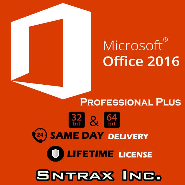 Microsoft Office 2016 Professional PLUS 32/64 bit (WINDOWS