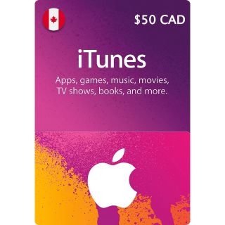 $50.00 iTunes CA (Instant Delivery)