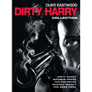 Dirty Harry 5 Film Collection SD VUDU INSTAWATCH
