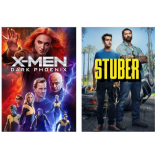 X-MAN DARK PHOENIX & STUBER HD VUDU INSTAWATCH
