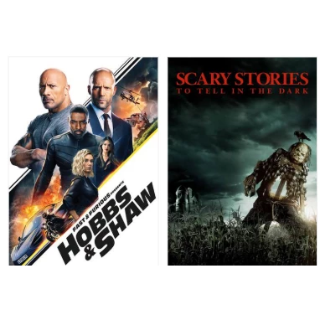 HOBBS AND SHAW & SCARY STORIES TO TELL IN THE DARK 4K VUDU INSTAWATCH