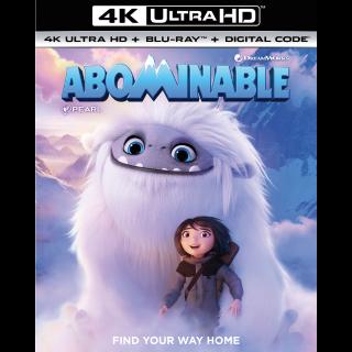 Abominable 4K VUDU INSTAWATCH 2 WEEKS EARLY WOW!!!!