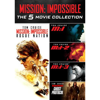 Mission: Impossible 5-Movie Collection HD VUDU INSTAWATCH