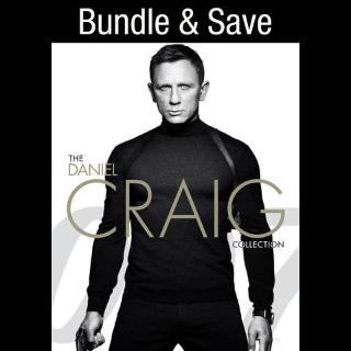 007: The Daniel Craig 4-Film Collection HD VUDU INSTAWATCH REDEEM