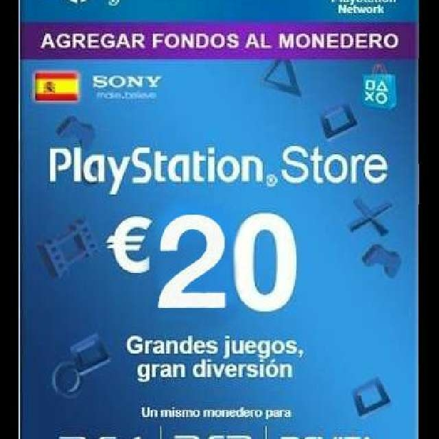 Playstation 20 Euros Spain Playstation Store Gift Cards Gameflip