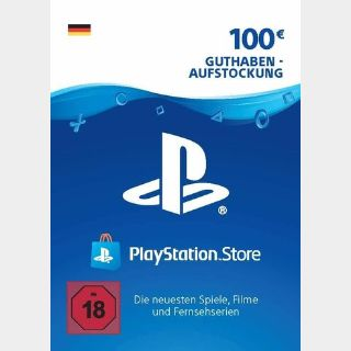 €100.00 PlayStation Store GERMANY AUTO DELIVERY