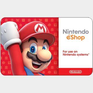 $35.00 Nintendo eShop Auto delivery US only