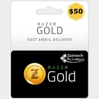 $50.00 Razer Gold INSTANT DELIVERY