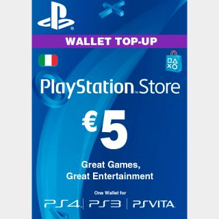 €5.00 PlayStation Store ITALY AUTO DELIVERY