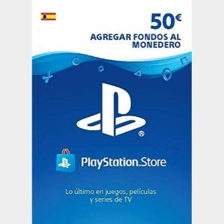 €50.00 PlayStation Store SPAIN AUTO DELIVERY