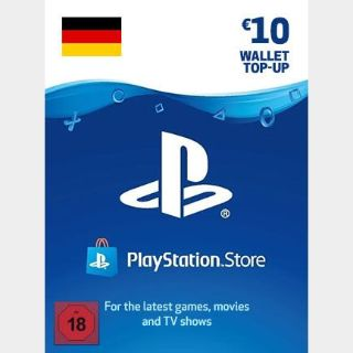 €10.00 PlayStation Store GERMANY AUTO DELIVERY
