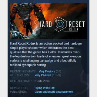 Hard Reset Redux【steam game key】