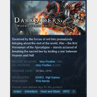 [steam game key] Darksiders Warmastered Edition SAVE 90%