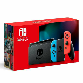 Brand New Nintendo Switch 32GB Neon Red/Neon Blue Console in hand