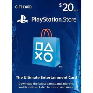 $20.00 PSN PlayStation Store Gift Card USA