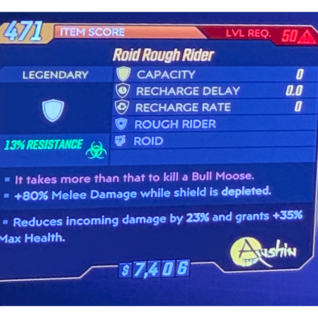 Shield | Roid rough rider glitch