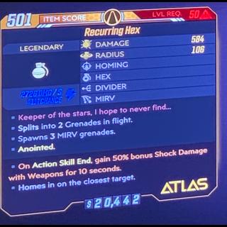 Grenade | Recurring hex shock 50%