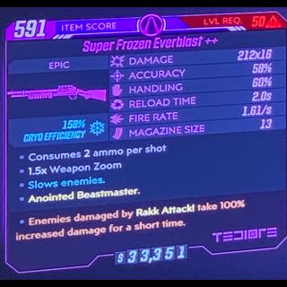 Weapon   Everblast cryo rakk