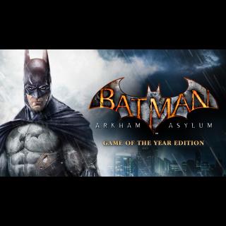 Batman Arkham Asylum Game of the Year Edition