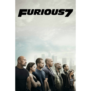 Furious 7 HDX Movies Anywhere Instant Download