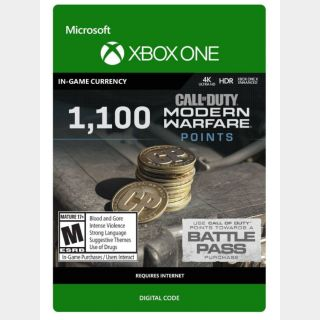 Call of Duty: Modern Warfare 1,100 Points (Xbox One) - US - INSTANT DELIVERY