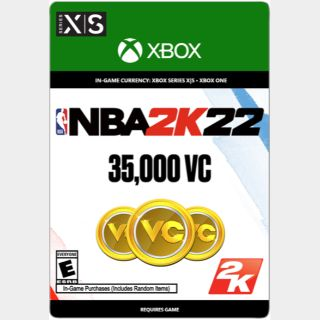 NBA 2K22: 35000 - Virtual Currency (Xbox ON / Xbox Series) - US - INSTANT DELIVERY