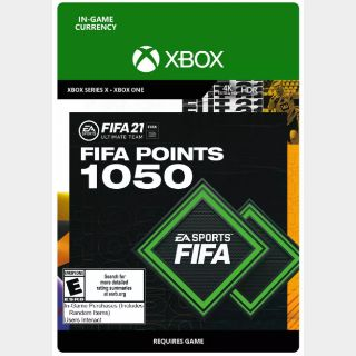 FIFA 21: Ultimate Team 1050 Points (Xbox One/Series X) - US - INSTANT DELIVERY