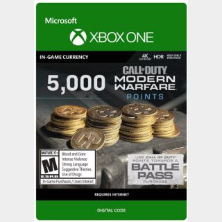 Call of Duty: Modern Warfare 5,000 Points (Xbox One) - US - INSTANT DELIVERY
