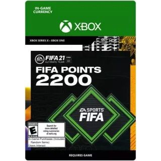 FIFA 21: Ultimate Team 2200 Points (Xbox One/Series X) - US - INSTANT DELIVERY