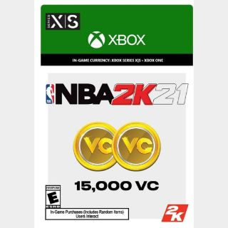 NBA 2K21: 15,000 VC (Xbox Series X|S/Xbox One) - US - INSTANT DELIVERY