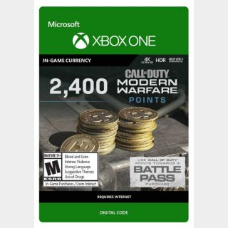 Call of Duty: Modern Warfare 2,400 Points (Xbox One) - US - INSTANT DELIVERY