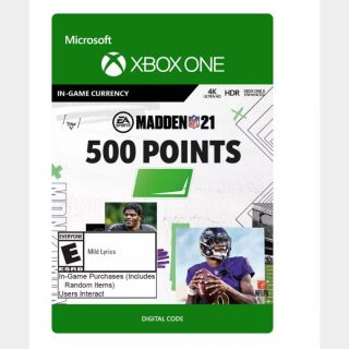 Madden NFL 21: 500 Madden Points (Xbox One) - US - INSTANT DELIVERY