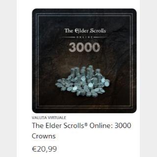The Elder Scrolls® Online: 3000 Crowns - PS4 EU KEY - INSTANT