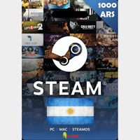 Steam Wallet 1000 ARS Gift card