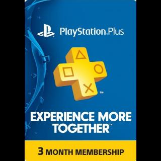 PlayStation Plus - 3 Month PSN 90 Day Membership (USA)