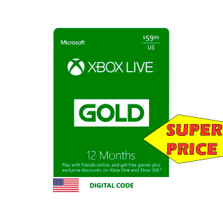 12-month of Xbox Live Gold