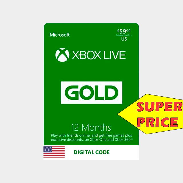 12 month of xbox live gold instantly  xbox live gold gift