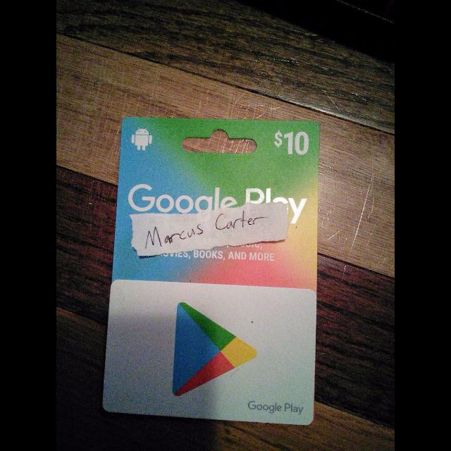 GOOGLE PLAY CARD CODES