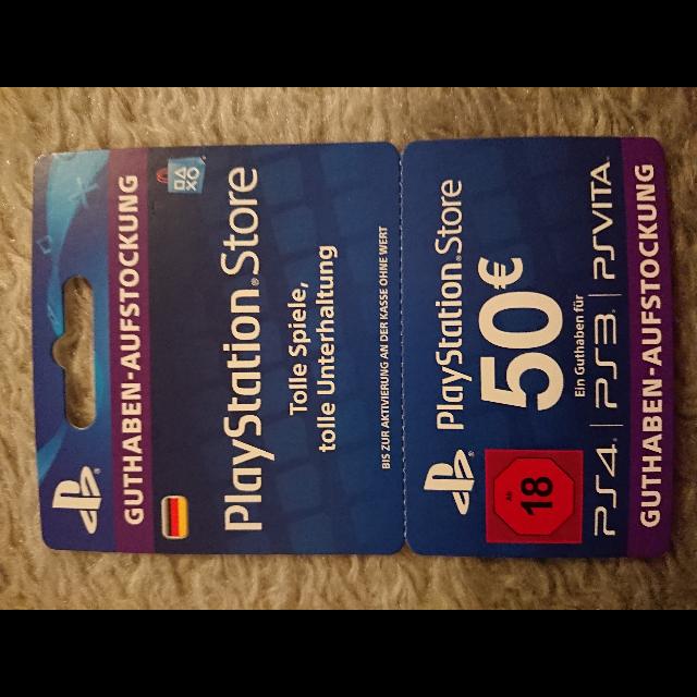 Psn voucher 50€ - PlayStation Store Gift Cards - Gameflip