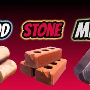 10k wood-75k brick -95k metal