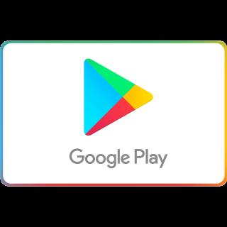 $10.00 Google Play Gift Card Balance 10 Dollar