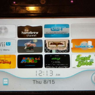 WiiU With Tons Of Stuff