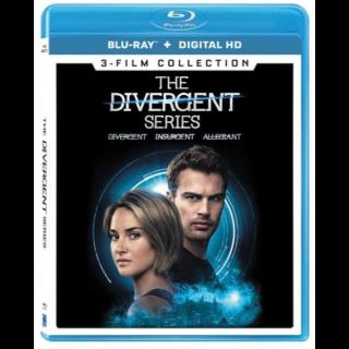 Divergent, Insurgent, and Allegiant Complete 3-Movie   Vudu Code