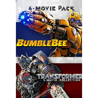 Transformers + Bumblebee 6-Movie Collection (Bundle)