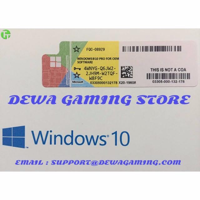 Windows 10 Pro Professional OEM License Key (COA Scan ...