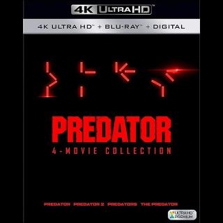 Predator 4-Film Collection (Bundle) 4K UHD | Vudu