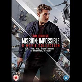 Mission: Impossible - 6 Movie Collection (Bundle)| Vudu