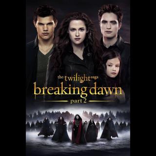 The Twilight Saga: Breaking Dawn - Part 2 | Vudu Code