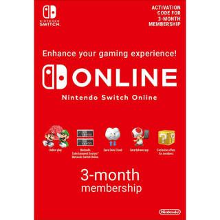 Nintendo Online 3 Months Membership